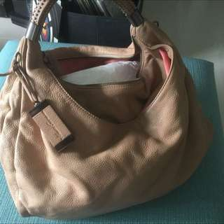 Kenneth Cole Leather Bag With Strap