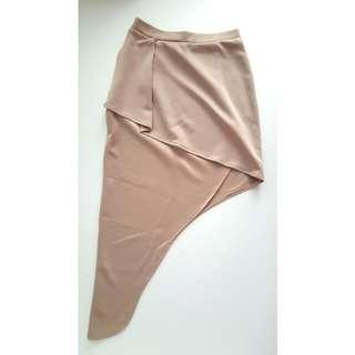 Nude High Slit Skirt