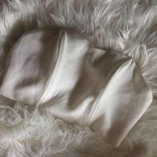 Luvalot White Strapless Bandeau
