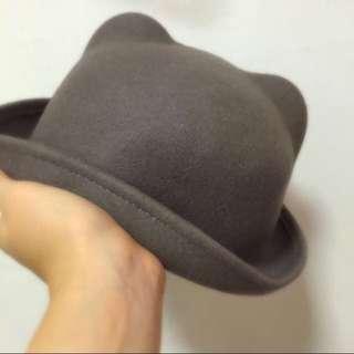 Grey Cat Bowler Hat