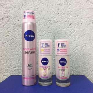 Set of 3 NIVEA Extra White Deo Serum