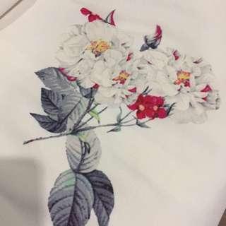 Elegant White Dress With Floral Print