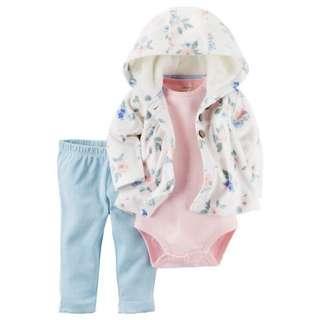 美國carter's 女寶羊毛絨外套3件組 現貨18m