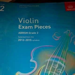 Grade 2 ABRSM Violin Exam Pieces 2012 To 2015