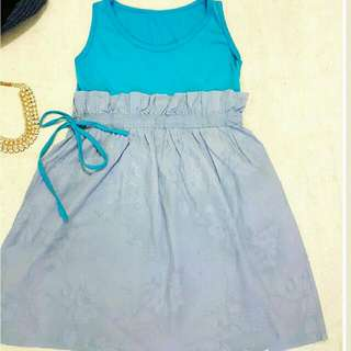 Hight Waist Dress With Belt
