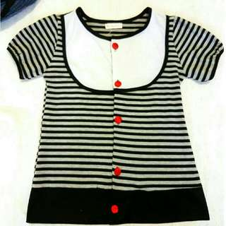 Stripy Blouse With Buttons