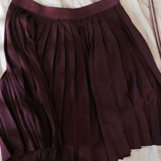 H&M Maroon A-Line Skirt