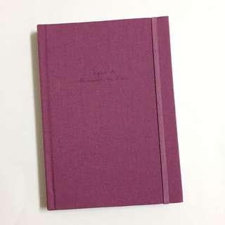 Agnes b 紫色硬皮筆記簿