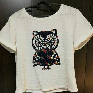 White t Shirt With Cite Design - Brand New Without Tag