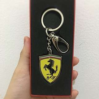 Key Ring Metal Shield Logo