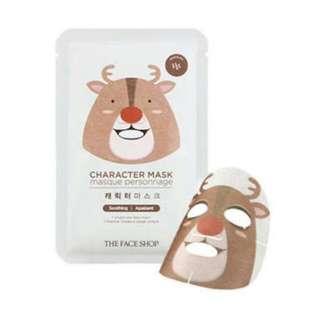 Mask Charakter (Rudolf) Original From Face Shop / Masker Wajah