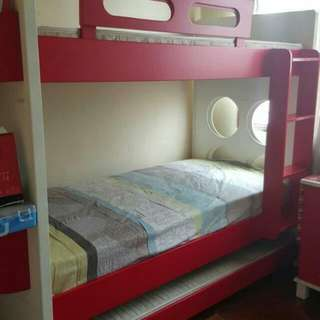(REDUCED)Double Decker Bed Frame With Dressing Table
