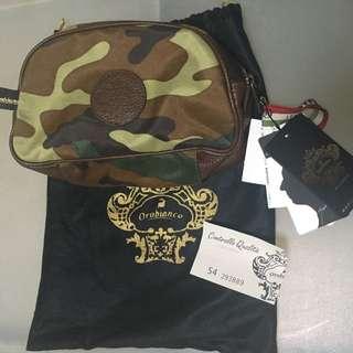 意大利製 Orobianco 迷彩 Pouch Travel Kit LV prada Hermes Gucci Miu Miu Burberry Paul Smith Agnes B Furla Kate Spade Coach