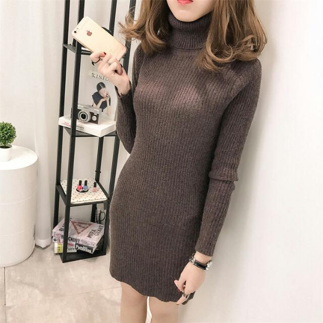 高領打底針織裙(5色入) 🌟預購款