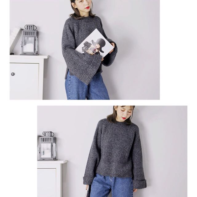 轉賣荷比超厚實寬袖針織毛衣