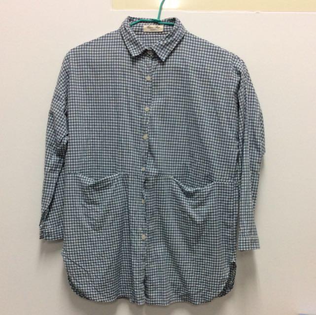 寬鬆文青格紋襯衫