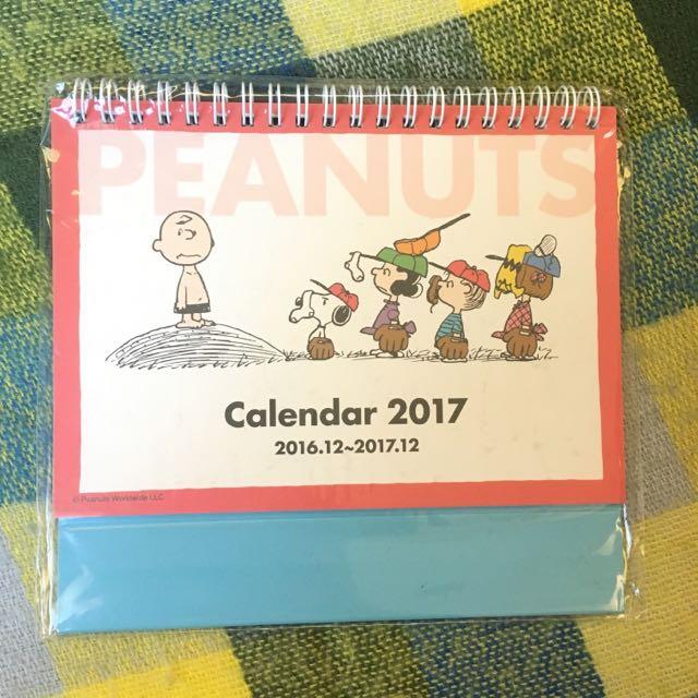 最新款 🇯🇵日本雜貨 史努比 2017桌曆
