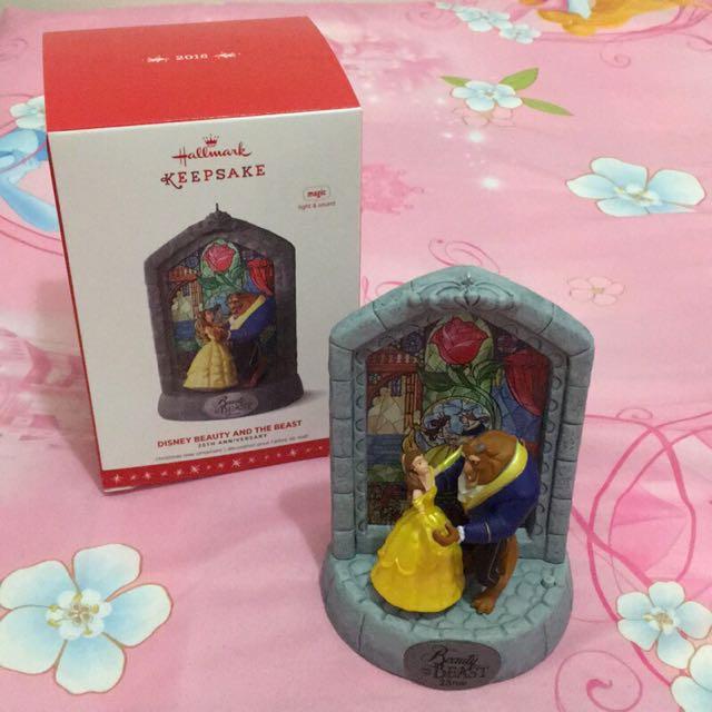 絕版 音樂 美國 美女與野獸 貝兒 belle 迪士尼公主 公主系列 吊飾 公仔 擺飾 hallmark