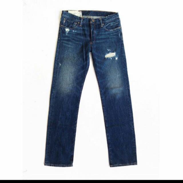 正品 Abercrombie & Fitch 微破壞牛仔褲 W30