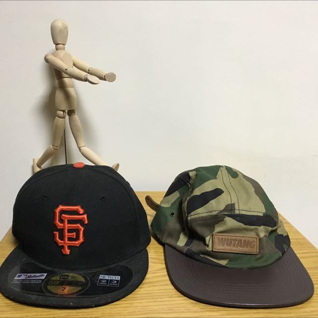*買一送一 巨人隊棒球帽+wutung武當迷彩五分割