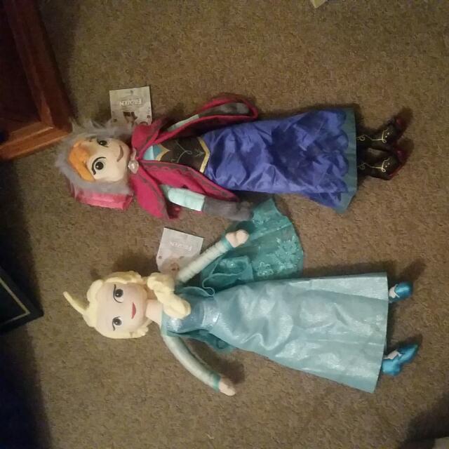 Frozen Anna & Elsa Soft Dolla