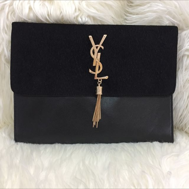 Black YSL Clutch Shoulder Bag - Yves Saint Laurent