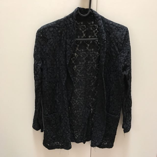 Completely lace Black Jacket Size 8