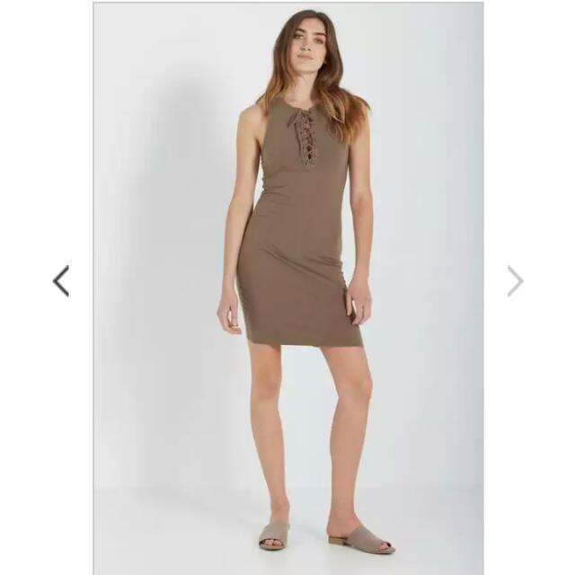 COTTON ON Lace Up Midi Dress