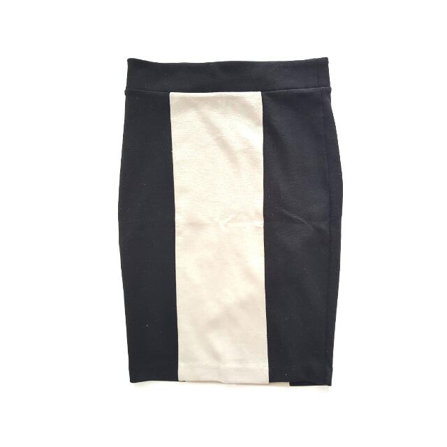 FOREVER21 Dual Tone Pencil Skirt