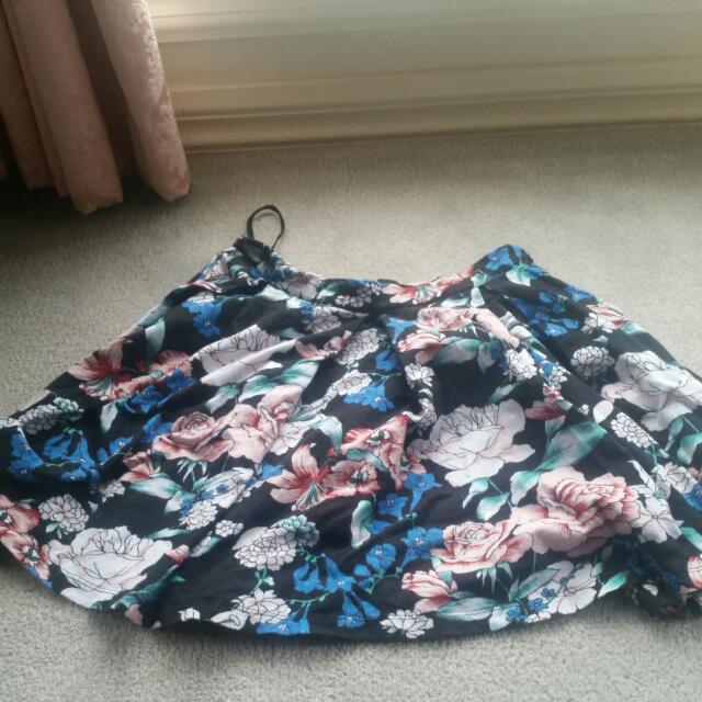 Flower Detail Womens Skirt
