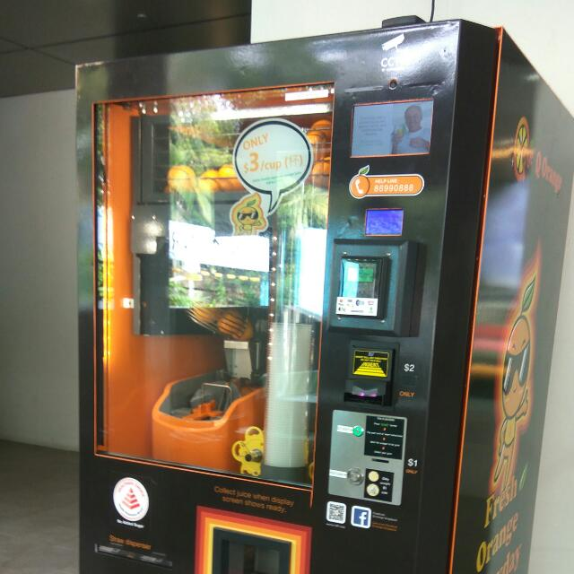 Fresh Orange Juice Vending Business Passive Income Opportunities