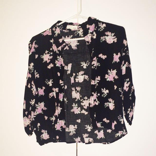 Garage Short Floral Kimono