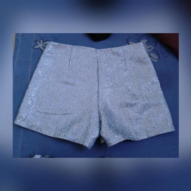 Glittery High Waist Shorts