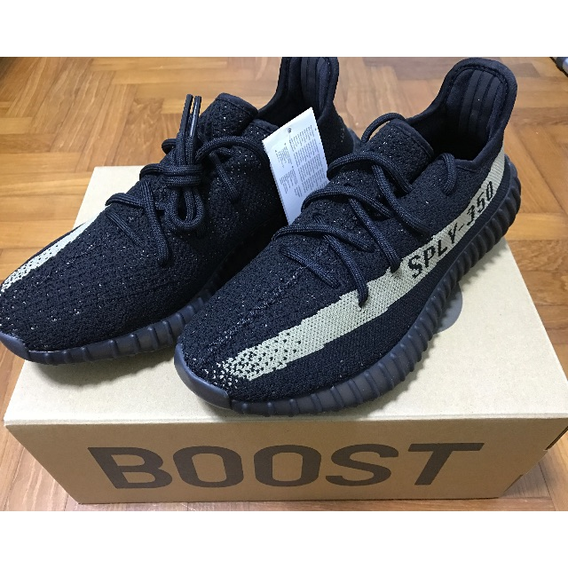 210f9a0f9de IN-STOCK  ADIDAS YEEZY BOOST 350 V2 BLACK GREEN OLIVE US 7.5 UK 7 ...