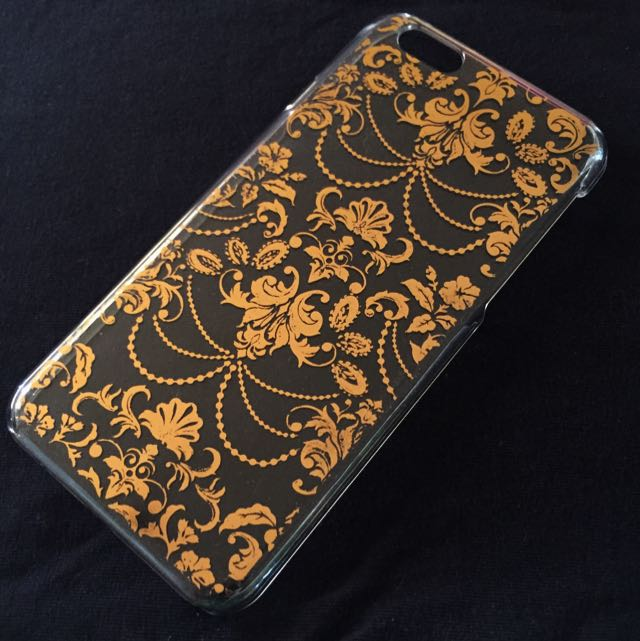 iPhone 6 Clear Case with Gold Vintage Design
