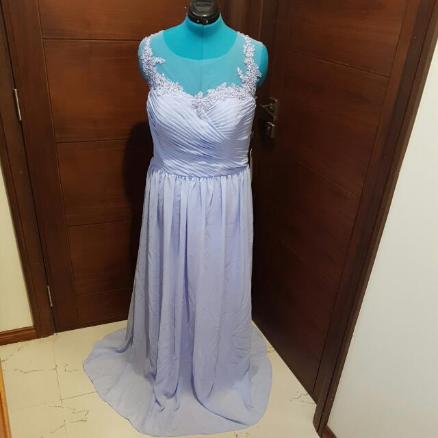 Lavender Chiffon Dress Size 18-20