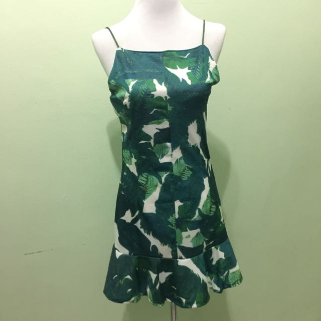 Leafy Peplum Dress