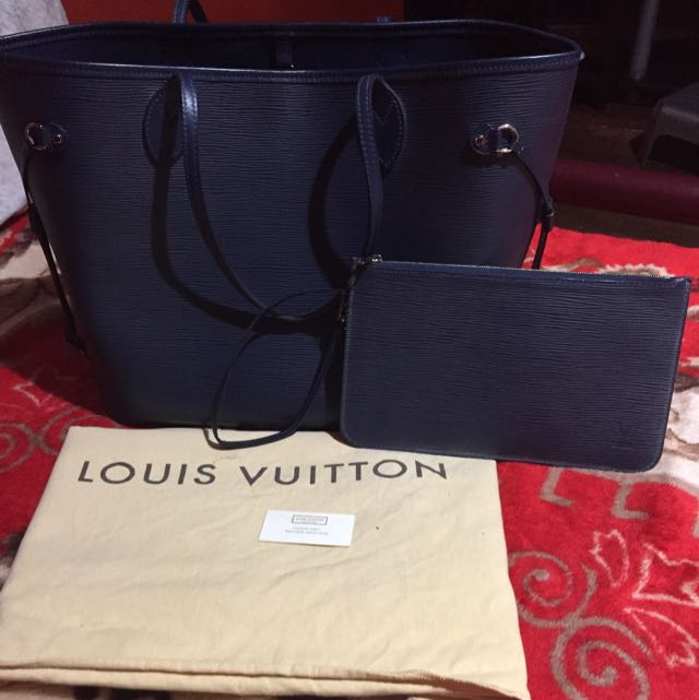 Louis Vuitton Neverfull MM Epi Indigo