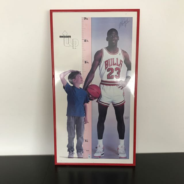 Michael Jordan 1987 Measurement Up Chart