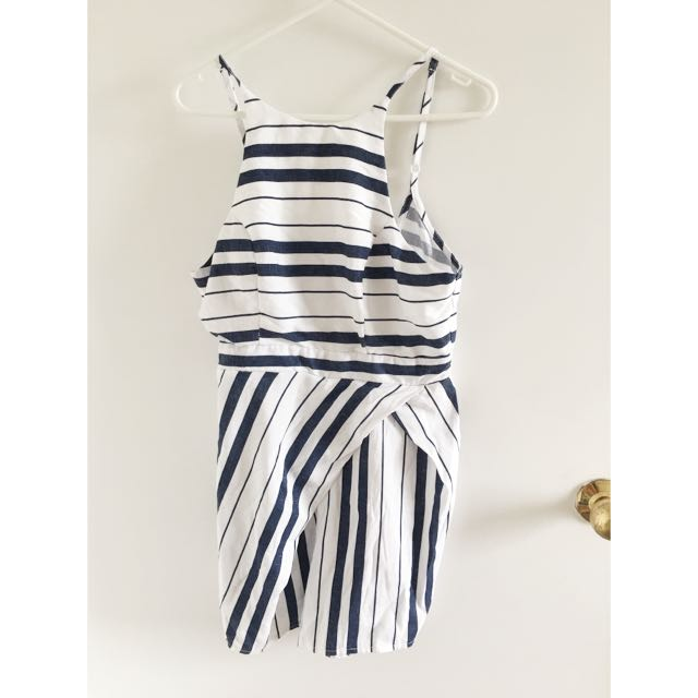 Navy And White Playsuit Romper Size 10