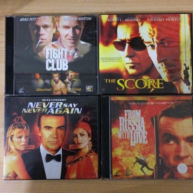 Original VCDs And 1 DVD (Fight Club, James Bond Etc)