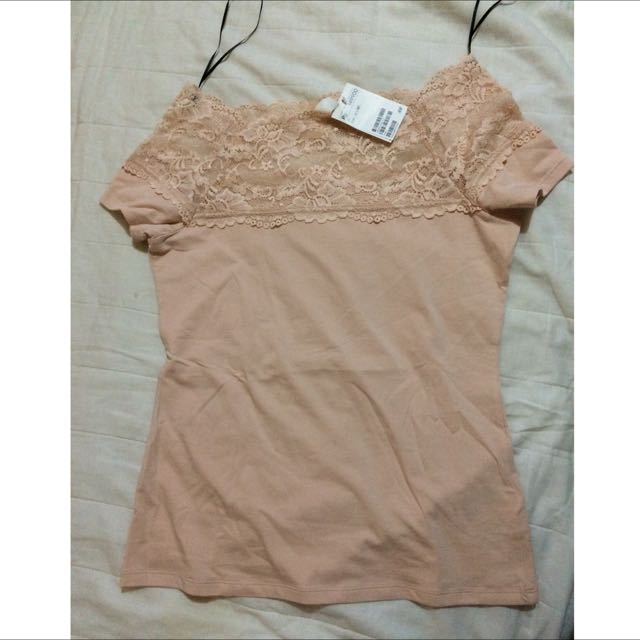 (REPRICE) Pink Lace Shirt HnM