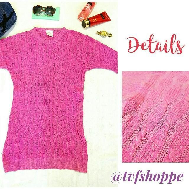 Pink long-sleeve blouse
