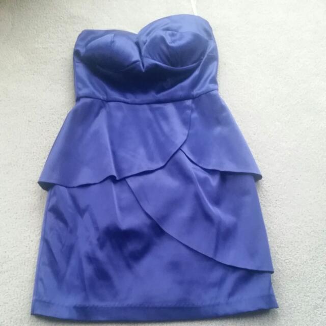 Purple Pilgrim Strapless Formal Dress With Padding
