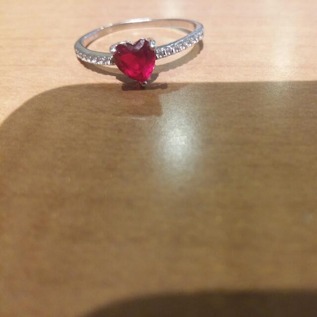 Red and White Gem Tennis ring