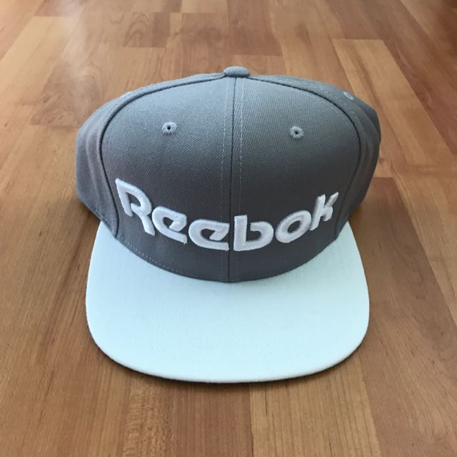 Reebok Classic Logo Grey White SnapBack Cap New!! f0130b2c541