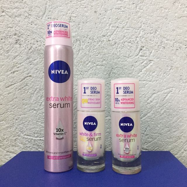 Set of 3 NIVEA Extra White Deo Serum