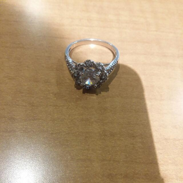 Silver Cluster Ring
