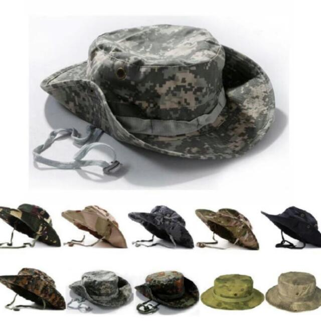 e85d63d6943f5 Tactical Airsoft Sniper Camouflage Boonie Hat Nepalese Cap Military ...