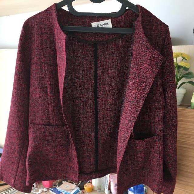 ThisisApril Red blazer